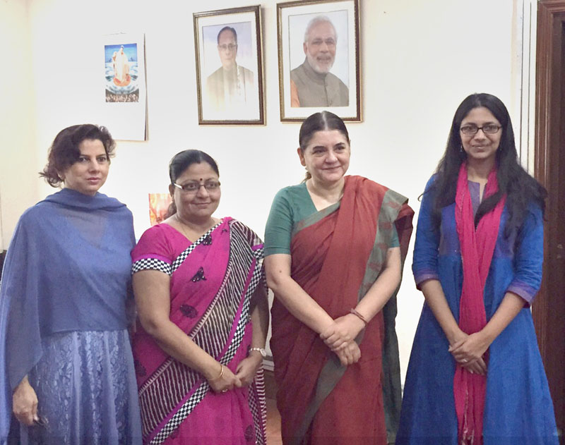 Ms. Swati Maliwal called on the Union Minister