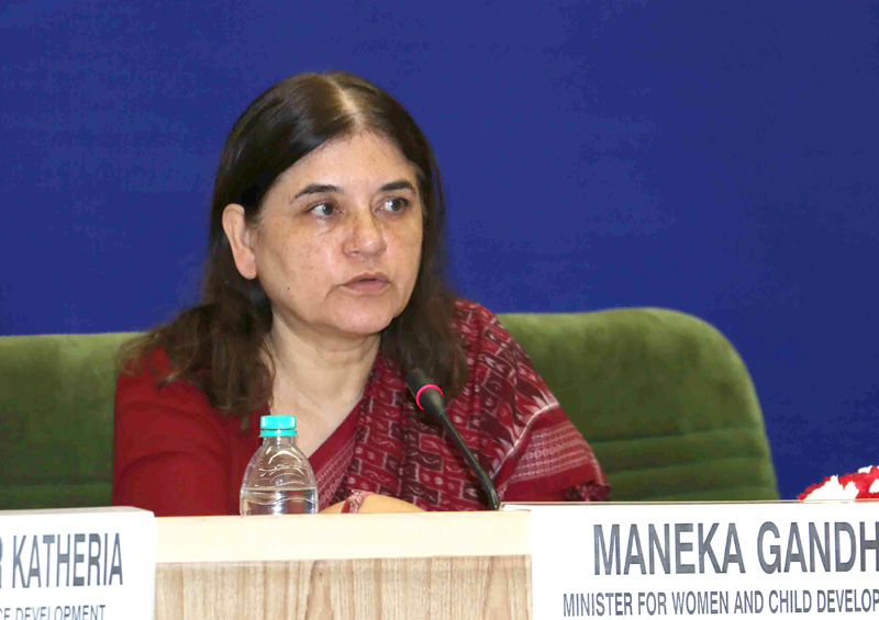Smt. Maneka Sanjay Gandhi addressing the 63rd meeting